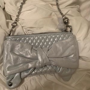 Brand new juicy couture metallic purse clutch